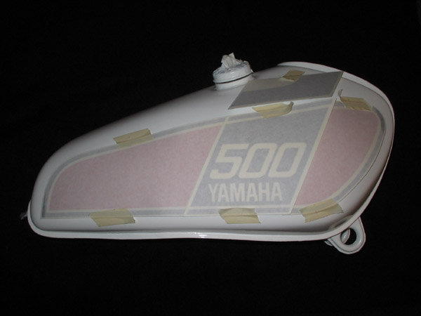 Xt500 Technik Montage Des Tankdekors